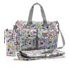 Ecosusi กระเป๋าสัมภาระสำหรับคุณแม่ กระเป๋าใส่ผ้าอ้อม แขวนรถเข็นเด็กได้ หิ้ว หรือสะพายไหล่ได้ (ลายสวนสนุก)