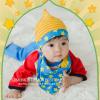 AP181••เซตหมวก+ผ้ากันเปื้อน•• / ดาว [สีเหลือง-ฟ้า]