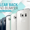 Spigen : Ultra Hybrid Clear Case + 1 Back Protector For Samsung Galaxy S6 Edge