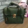 กระเป๋าแฟชั่นยอดฮิต สไตล์ Phillip Lim สีเขียวเข้ม ราคา 990 บาท Free Ems