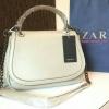 กระเป๋า ZARA CITY BAG WITH CHAIN 2016 สีเบจ