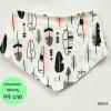 ผ้าซับน้ำลายสามเหลี่ยม ผ้ากันเปื้อนเด็ก [ผืนเล็ก] / Colored Feathers