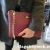 กระเป๋า Aldo clutch bag สีไวน์แดง ราคา 990 บาท Free Ems