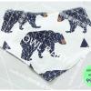 ผ้าซับน้ำลายสามเหลี่ยม ผ้ากันเปื้อนเด็ก [ผืนเล็ก] / Black Bear