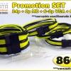 Full Set สายถัก เหลืองUV/ดำ 860