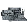 Ecosusi กระเป๋าคุณแม่ พร้อมอุปกรณ์รวม 5 ชิ้น มีกระเป๋าสะพายใหญ่สองใบ แผ่นรองเปลี่ยนผ้าอ้อม กระเป๋าใส่ขวดนม กระเป๋าใส่ของ ผลิตจากโพลีเอสเตอร์คุณภาพสูง
