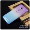 เคส Zenfone 2 (ZE551ML / ZE550ML ) เคสนิ่ม Super Slim TPU บางพิเศษ Style เรนโบว์ สีฟ้า / สีม่วง