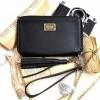 กระเป๋าสตางค์ สีดำ พร้อมสายคล้องมือ และสายโซ่ ZARA BASIC COLLECTION Chain Strap Clutch Wallet