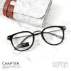 CHAPTER - black แว่นตา TR90 ยืดหยุ่น กว้าง 140 มม.(size M)