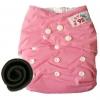 กางเกงผ้าอ้อมกันน้ำ+แผ่นซับชาโคลหนา5ชั้น Size 3-16 kg.-Light Pink