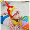 AP176••เซตหมวก+ผ้ากันเปื้อน•• / หมี [สีเหลือง+แดง]