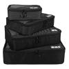 Ecosusi 4 Set Packing Cubes - Travel Organizers - ชุดจัดกระเป๋าเดินทางคุณภาพดีมาก 4 ใบต่อชุด ใส่เสื้อผ้า ชั้นใน ถุงเท้า เข็มขัด มี 3 สีให้เลือก