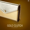 ZENUS : Gold Clutch Case Cover For Galaxy Note 3, III, N9000, N9005