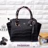 กระเป๋า KEEP Infinite Office Bag แท้ สีดำลายหนังจรเข้ ราคา 1,590 บาท Free Ems #งานShop