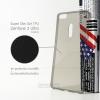 เคส Zenfone 3 Ultra (ZU680KL) เคสนิ่ม Super Slim TPU บางพิเศษ พร้อมจุด Pixel ขนาดเล็กด้านในเคสป้องกันเคสติดกับตัวเครื่อง สีดำใส
