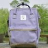 กระเป๋าเป้ ANELLO X PAGEBOY สีม่วงอ่อน วัสดุ Polyester canvas สลับหนังกลับ ปากกระเป๋าเปิดปิดด้วยซิปคู่