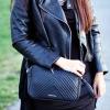 กระเป๋าสะพายข้าง MANGO TOUCH รุ่น tassel quited pattern bag สีดำ ส่งฟรี