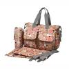 Ecosusi กระเป๋าสัมภาระสำหรับคุณแม่ กระเป๋าใส่ผ้าอ้อม แขวนรถเข็นเด็กได้ หิ้ว หรือสะพายไหล่ได้ (Pink)