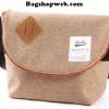กระเป๋า ANELLO POLYESTER CANVAS SHOULDER BAG สี Browne