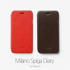 ZENUS : Leather Card Pocket Milano Spiga Flip Diary Case for Apple iPhone 6 (4.7inch)