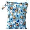 ถุงผ้ากันน้ำ 1 ช่อง Size: L (หูจับกระดุม) i2 -Blue Monky