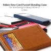 Italian : Card Pocket Standing View Case Cover for Galaxy Note 3, III, N9000, N9005
