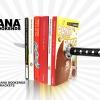 ที่คั่นหนังสือมีดซามูไร Katana Bookends