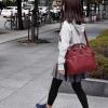 กระเป๋าเป้ ANELLO 2 WAY PU LEATHER BOSTON BAG (Regular)-----Red Wine