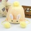 หมวกถัก(กระต่าย)สีเหลือง