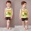 ชุดเสื้อกล้าม+กางเกงขาสั้นเด็ก ลายไดโนเสาร์ size 130