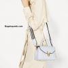 กระเป๋า ZARA CROSSBADY BAG WITH FASTENING DETAIL สีฟ้า ราคา 1,290 บาท Free Ems