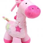 ตุ๊กตากล่อมน้องนอน ยีราฟ SKK Baby สีชมพู