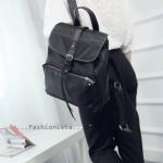 กระเป๋าสะพายเป้ไนล่อน Nylon Fabric เคลือบกันน้ำ วัสดุคุณภาพ AAA แฟชั่นWOMEN CASUAL BACKPACK สาว fashionista ควรมีไว้ครอบครอง ราคาเบาๆ 990 ส่งฟรี ems สีดำ/แดง