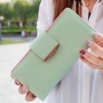 กระเป๋าสตางค์ใบยาว Prettyzys Tabby Long สีเขียว