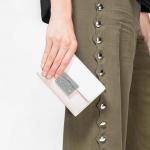 CHARLES & KEITH PUSH-LOCK WALLET NEW ARRIVAL 2017 กระเป๋าเงินใบกลาง สีนู๊ด