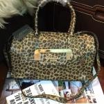 กระเป๋า Guess Gold LeoPard Leather Bowling Bag