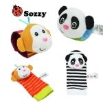 Set สายรัดข้อมือ-ถุงเท้า เสริมพัฒนาการ Sozzy แพนด้า-ลิง