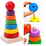 Rainbow Tower Wooden Education Toy