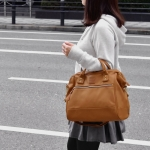 กระเป๋าเป้ ANELLO 2 WAY PU LEATHER BOSTON BAG (Regular)----- Camel Color