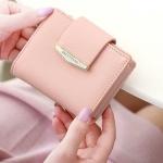 กระเป๋าสตางค์ใบสั้น Prettyzys tabby สีชมพู