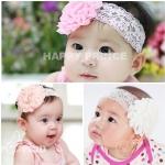 ผ้าคาดผมเด็กอ่อน ดอกไม้ลูกไม้สไตล์เกาหลี