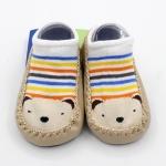 ถุงเท้ารองเท้า มีกันลื่น เด็กเล็กวัย 6-12m/12-18m เนื้อผ้านุ่มนิ่ม ลายหมี