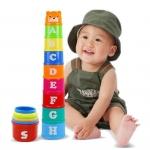 ถ้วยเรียงซ้อน ของเล่นเสริมพัฒนาการ ฝึกสมาธิ