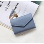 กระเป๋าสตางค์ใบกลาง PRETTY LETTER สีฟ้า