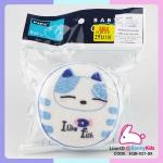 ฟองน้ำผ้าขนหนู PAPA ลายแมวน้อยน่ารักสีฟ้า