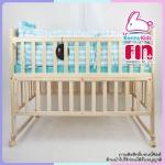 เตียงไม้โยกได้ FARIN สีเบจ ขนาด 62x110x93 cm