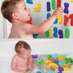 ของเล่นลอยน้ำ ตัวอักษรโฟม A-Z, 0-9 เกาะผนังเมื่อเปียก Melon