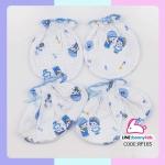 ถุงมือถุงเท้า cotton 100% (แพ็ค 12 เซ็ต)