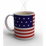 แก้วเปลี่ยนภาพตามอุณหภูมิ ลายธงชาติอเมริกา