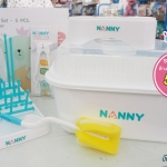 ชุดอุปกรณ์ล้างและจัดเก็บขวดนม 5 ชิ้น NANNY